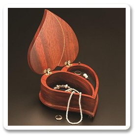 Heart Shaped Wooden Jewelry Box
